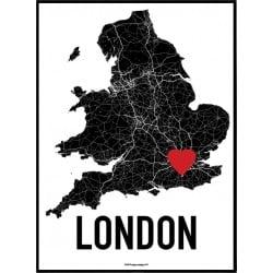 London Heart Poster