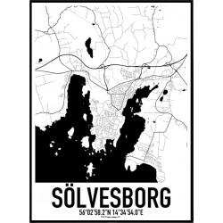 Sölvesborg Karta Poster