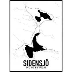 Sidensjö Karta