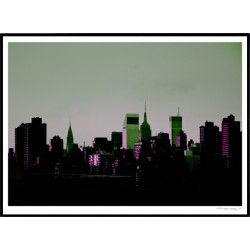 Purple Green Skyline