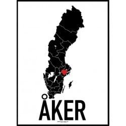 Åker Heart Poster