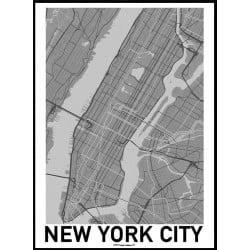 NYC Karta Poster