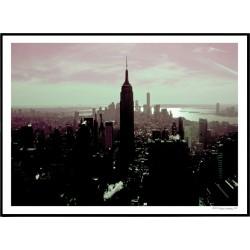 NYC Pink Skyline