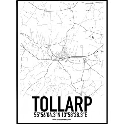 Tollarp Karta Poster