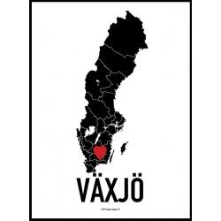 Växjö Heart Poster