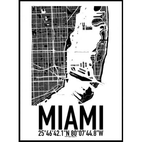 Miami USA Map