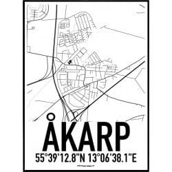 Åkarp Karta Poster