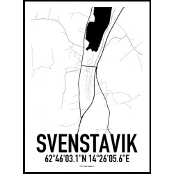 Svenstavik Karta