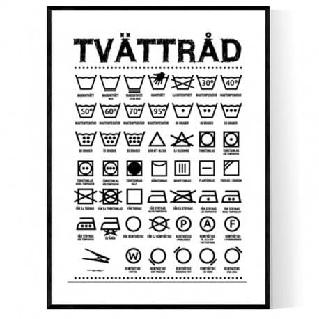 Tvättråd Poster
