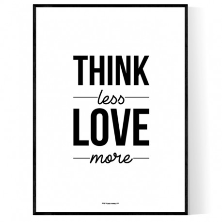 Think Less Poster