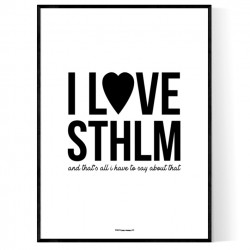 I Love Sthlm Poster