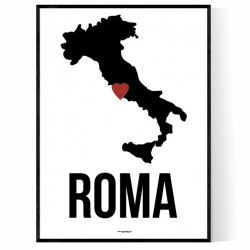 Roma Heart Poster