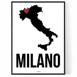 Milano Heart Poster
