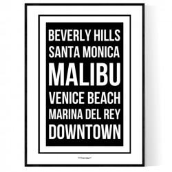 LA Places Poster