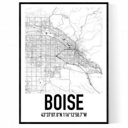Boise Karta Poster