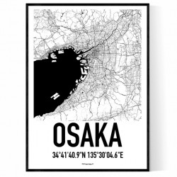 Osaka Karta Poster