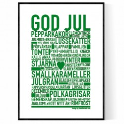 God Jul Grön Poster