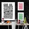 God Jul Grön Poster
