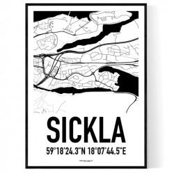 Sickla Karta Poster