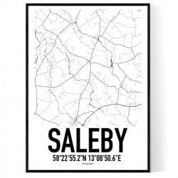 Saleby Karta Poster