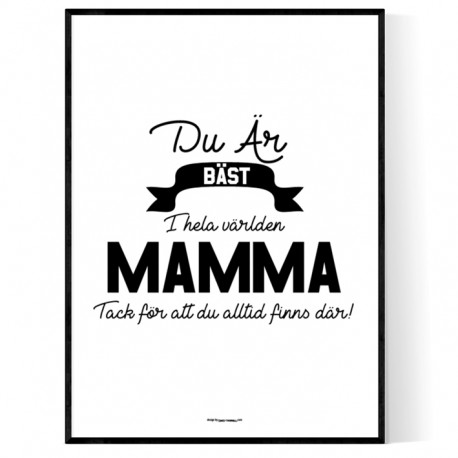 Mamma Affisch