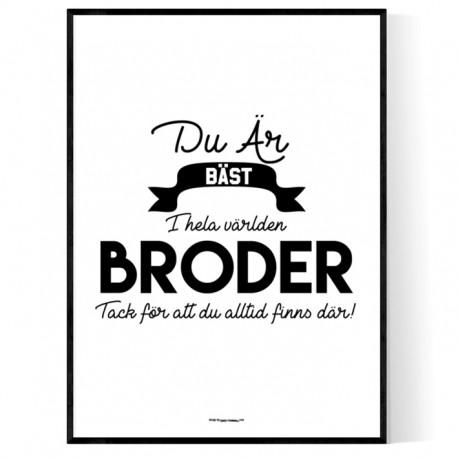 Broder Affisch