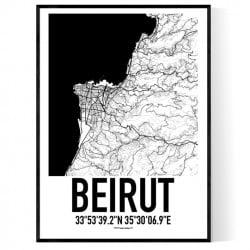 Beirut Karta Poster