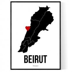 Beirut Heart Poster