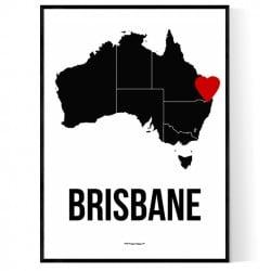 Brisbane Heart Poster