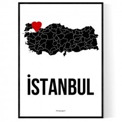Istanbul Heart Poster