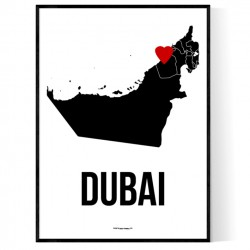 Dubai Heart Poster