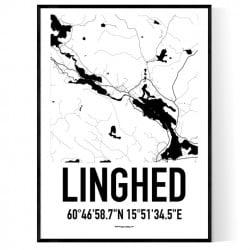 Linghed Karta Poster