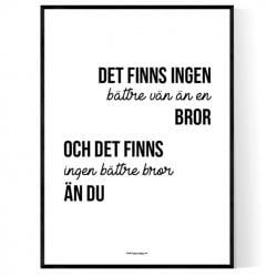 Bästa Bror Poster