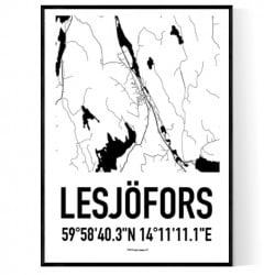 Lesjöfors Karta