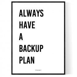 Backup Plan Poster