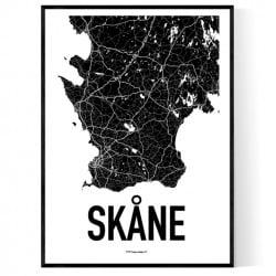 Skåne Karta Poster