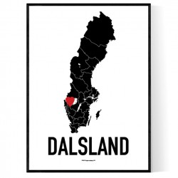 Dalsland Heart Poster