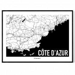Côte d'Azur Karta