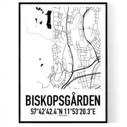 Biskopsgården Karta