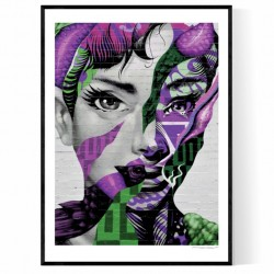 Purple Woman Poster