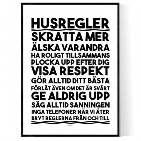 Husregler Poster