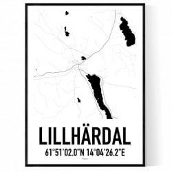 Lillhärdal Karta Poster