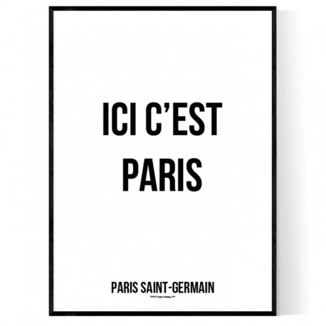 Ici C'est Paris Poster