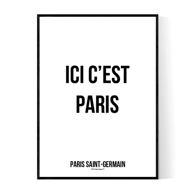 ici c 39 est paris poster text tavlor och text posters online. Black Bedroom Furniture Sets. Home Design Ideas