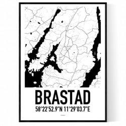 Brastad Karta Poster
