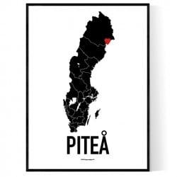 Piteå Heart Poster