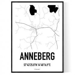 Anneberg Karta Poster