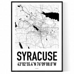 Syracuse Karta Poster