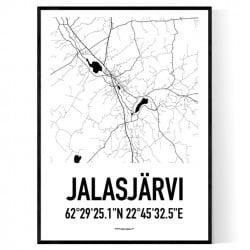 Jalasjärvi Karta Poster