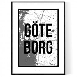 Göteborg City Map Poster